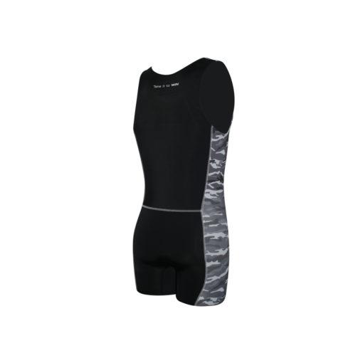 Ženski Take it to WIN veslački kombinezon Army Black s camouflage uzorkom sive boje, unisex