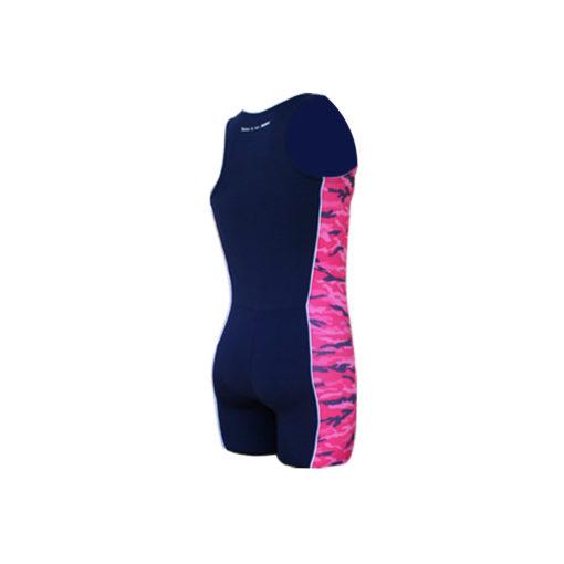 Ženski Take it to WIN veslački kombinezon Army Blue s camouflage uzorkom roze boje