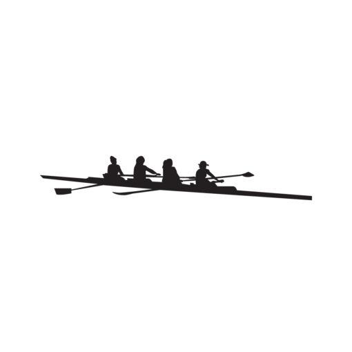 Naljepnica s veslačkim motivom 4x, za čamac, auto