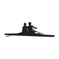 Naljepnica s veslačkim motivom 2x, za čamac, auto